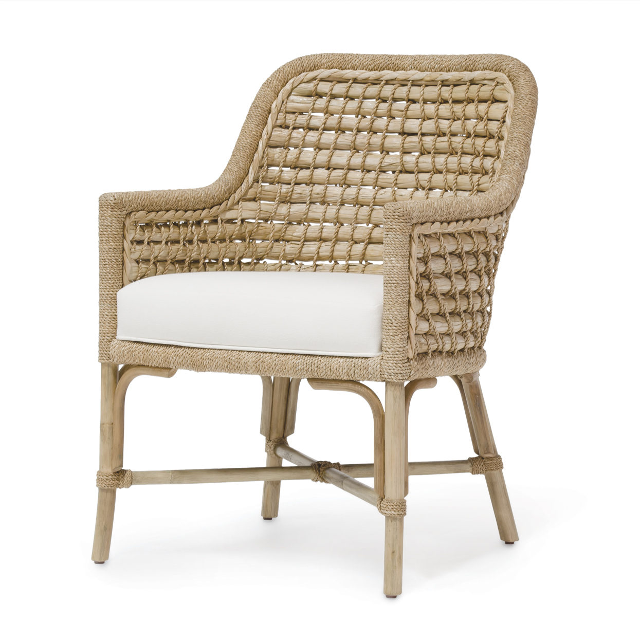 seagrass arm chair office elbow pads woven back mecox gardens