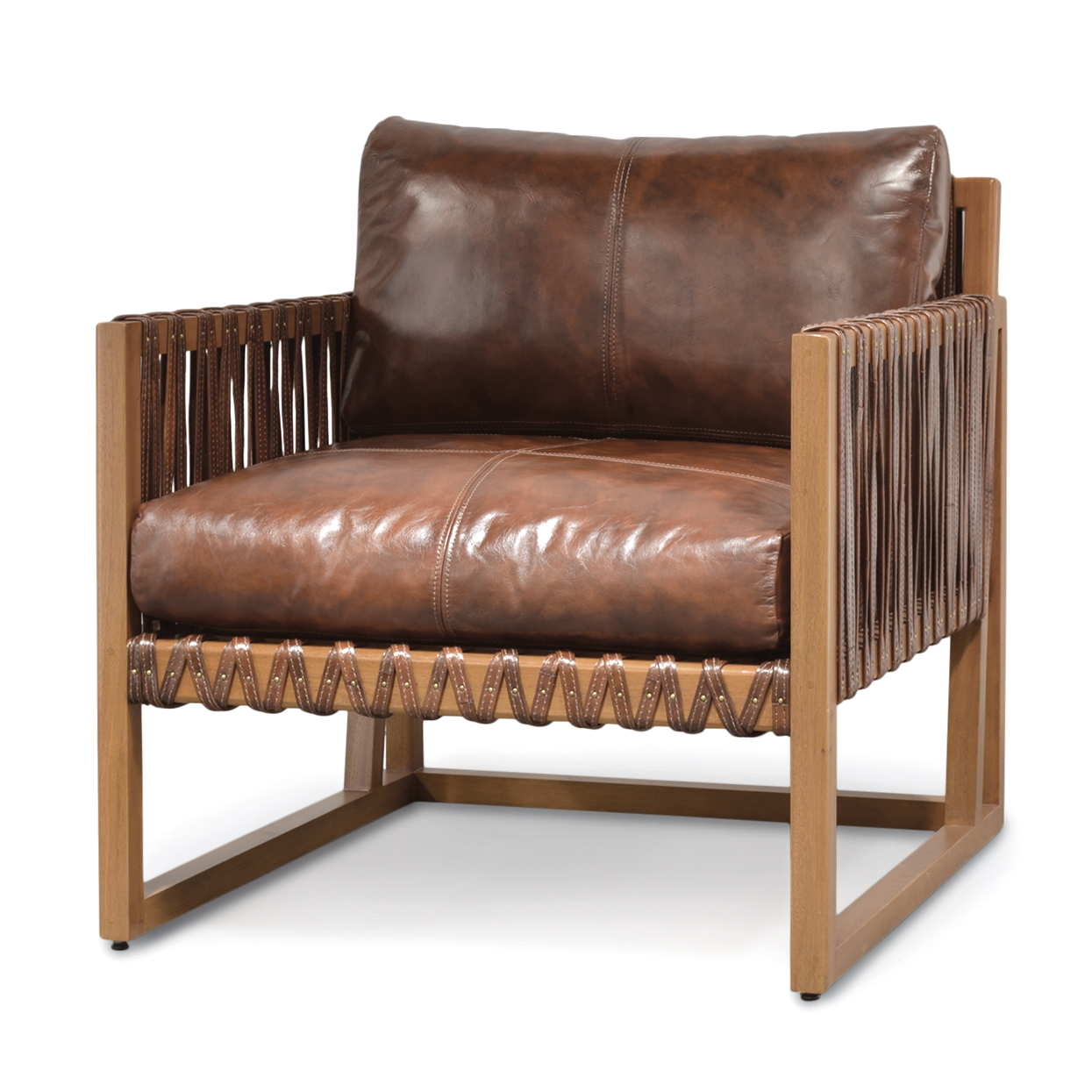 Wood Club Chair Leather And Wood Strap Club Chair Mecox Gardens