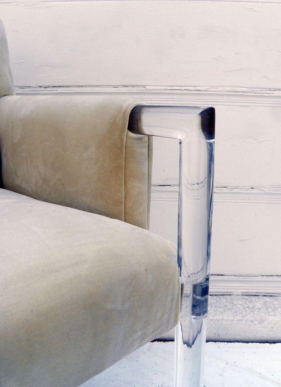 acrylic arm chair power wheelchair bags and velvet tufted mecox gardens