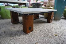Concrete And Reclaimed Wood Coffee Table - Mecox Gardens