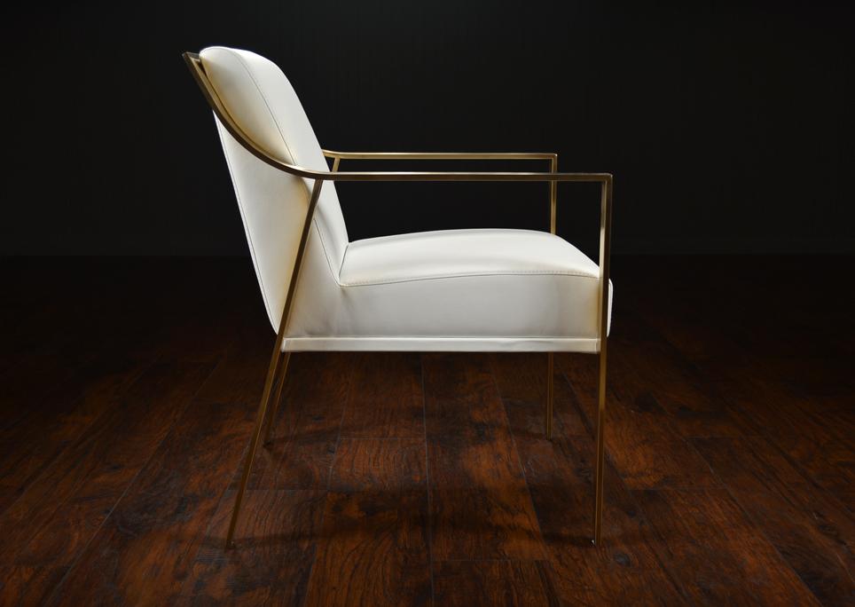 modern metal chairs herman miller aeron chair amazon framed arm dining mecox gardens