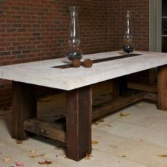Stone Top Kitchen Table Counter Height Barn Timber Dining Mecox Gardens