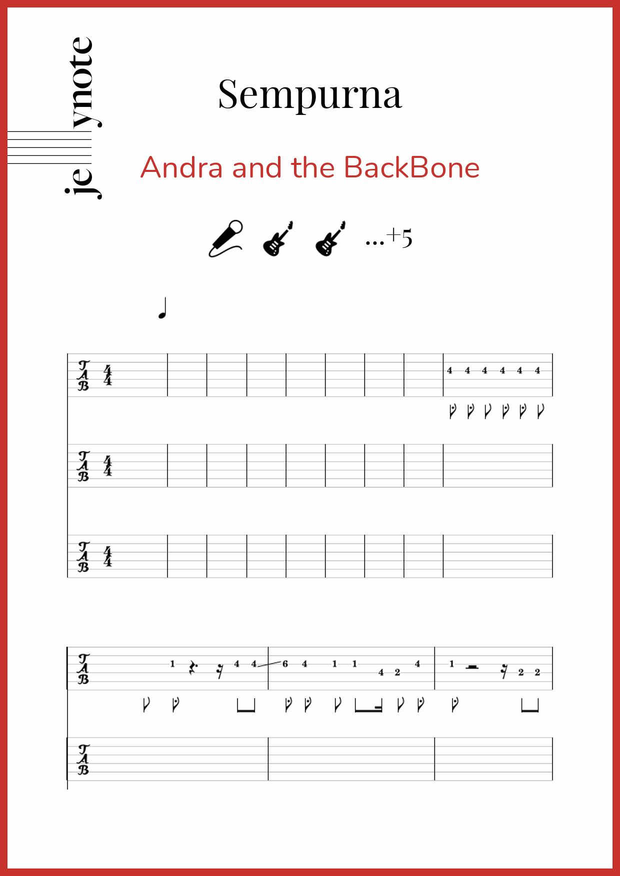 Andra And The Backbone Sempurna Chord : andra, backbone, sempurna, chord, Andra, BackBone,