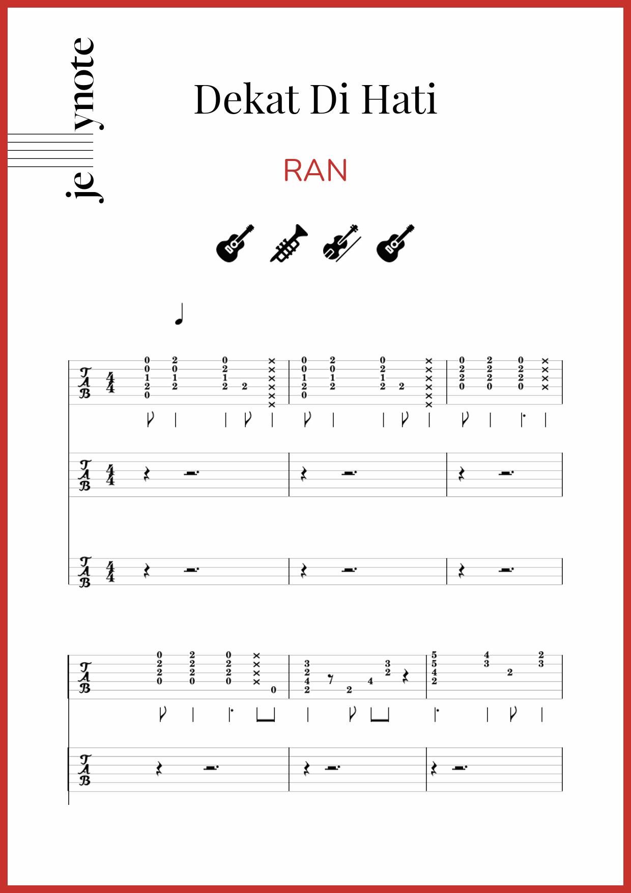 Dekat Di Hati Chord : dekat, chord,