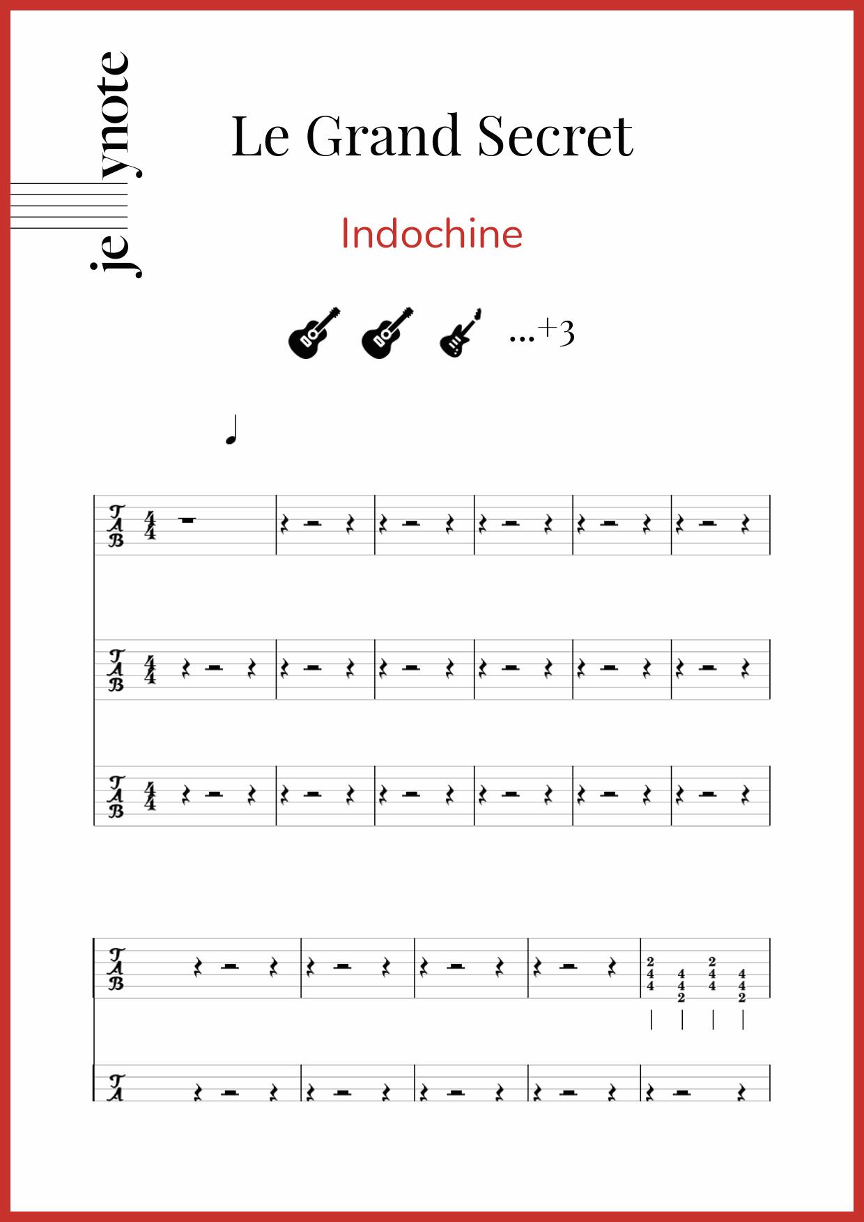 Indochine Le Grand Secret : indochine, grand, secret, Indochine, Grand, Secret