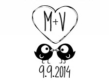 18 Free Monogram Designs for Your Wedding Stickers