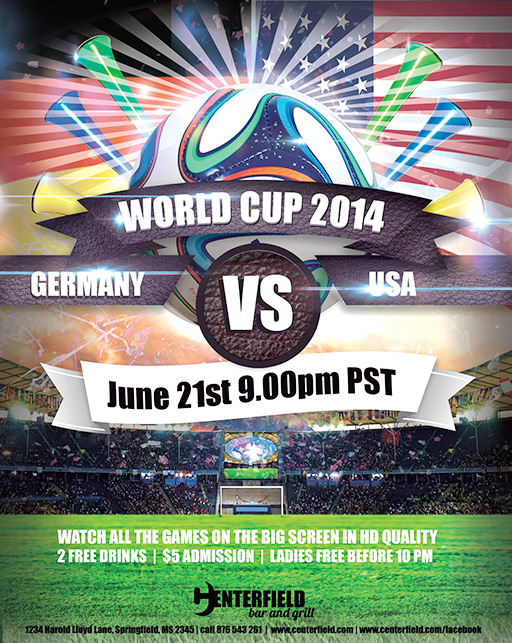 Free 2014 World Cup Templates Make Your Own Postcard Or