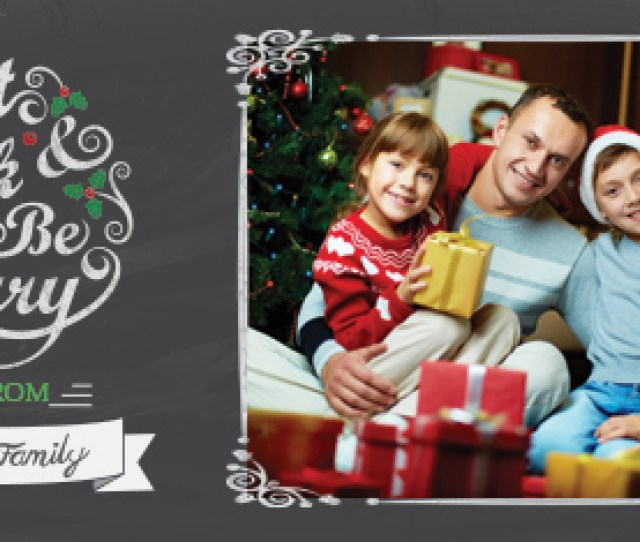 An Elegant And Stylish Seasonal Design In A Chalkboard Style To Add Some Flair To Your Personalized Holiday Photo Cards