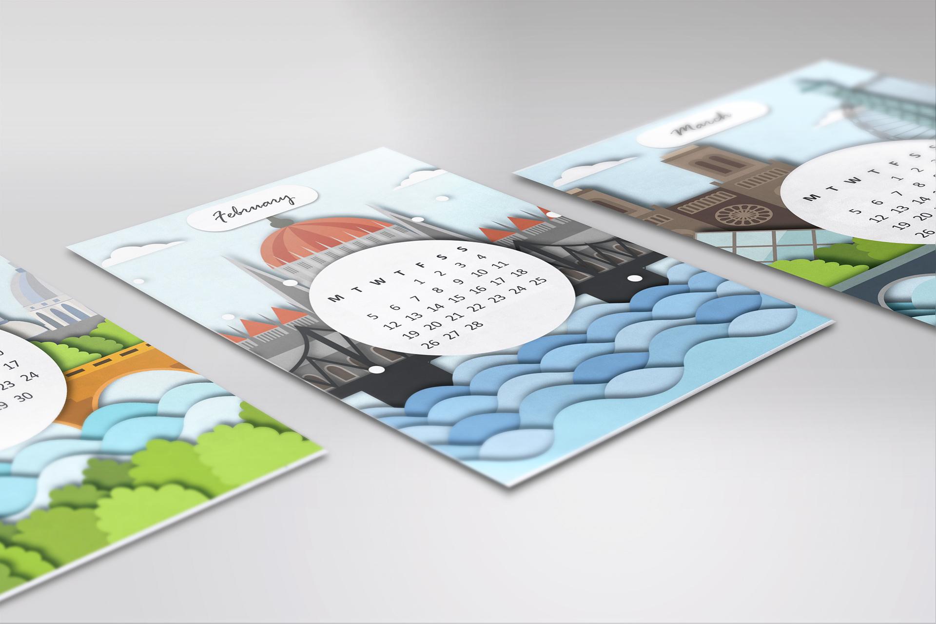 10 Creative 2018 Calendar Designs For Your Inspiration