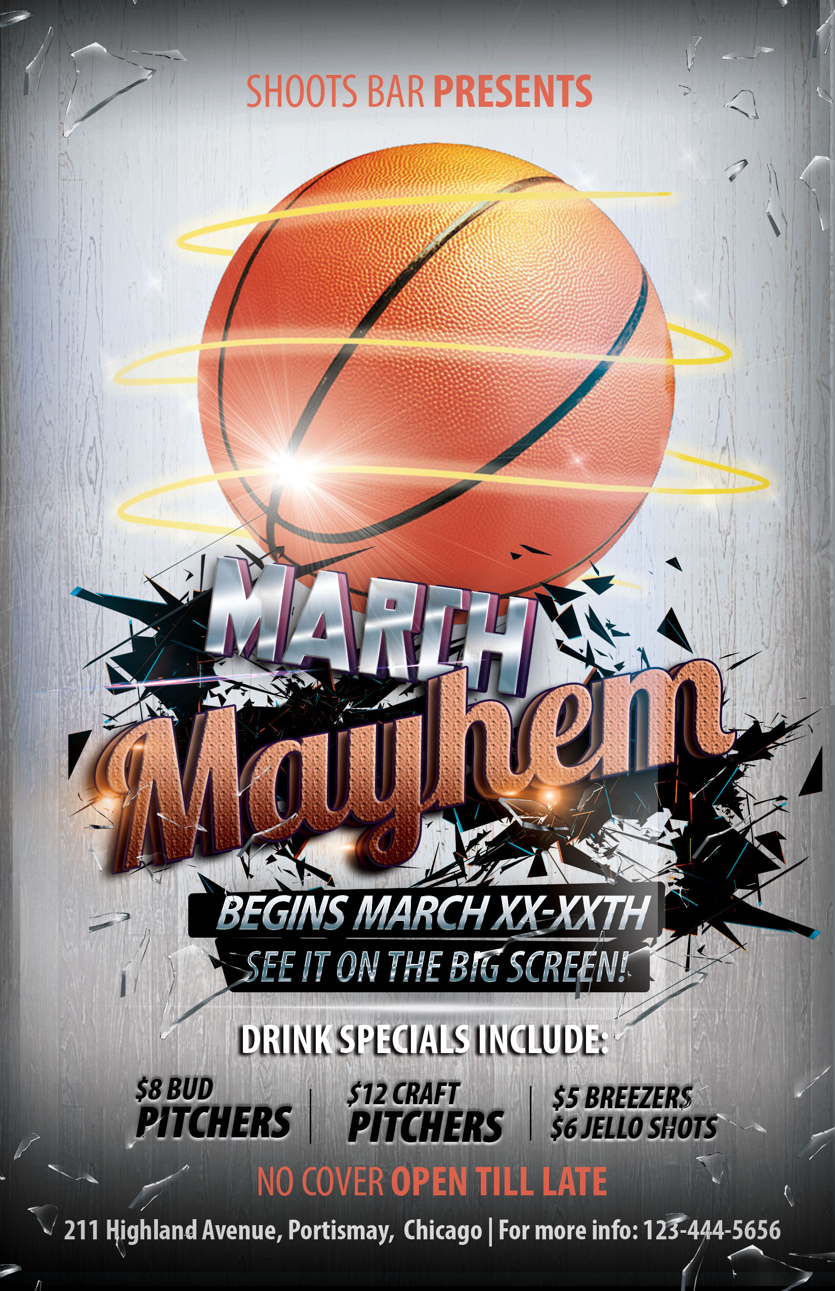 The Madness Begins FREE 5 Basketball Flyers in PSD for the Big Tournament  NextDayFlyers