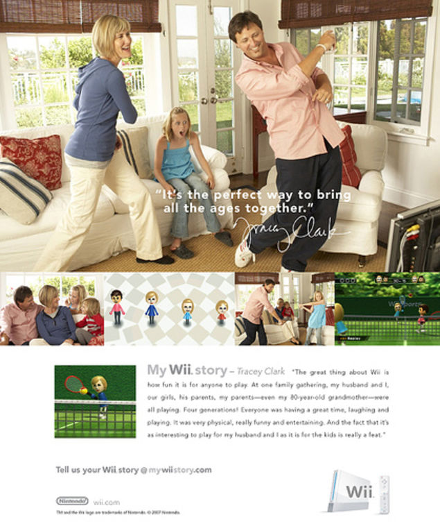 Advertisement for the Nintendo Wii