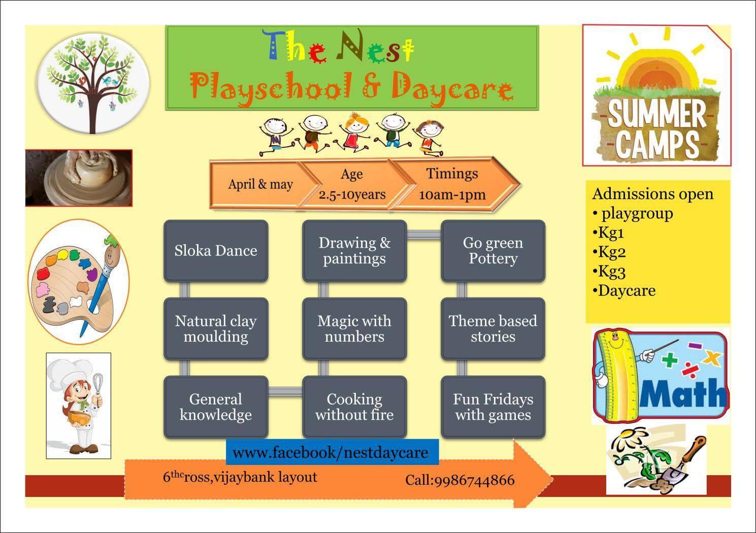 The Nest Preschool Amp Daycare Summer Camp Bangalore