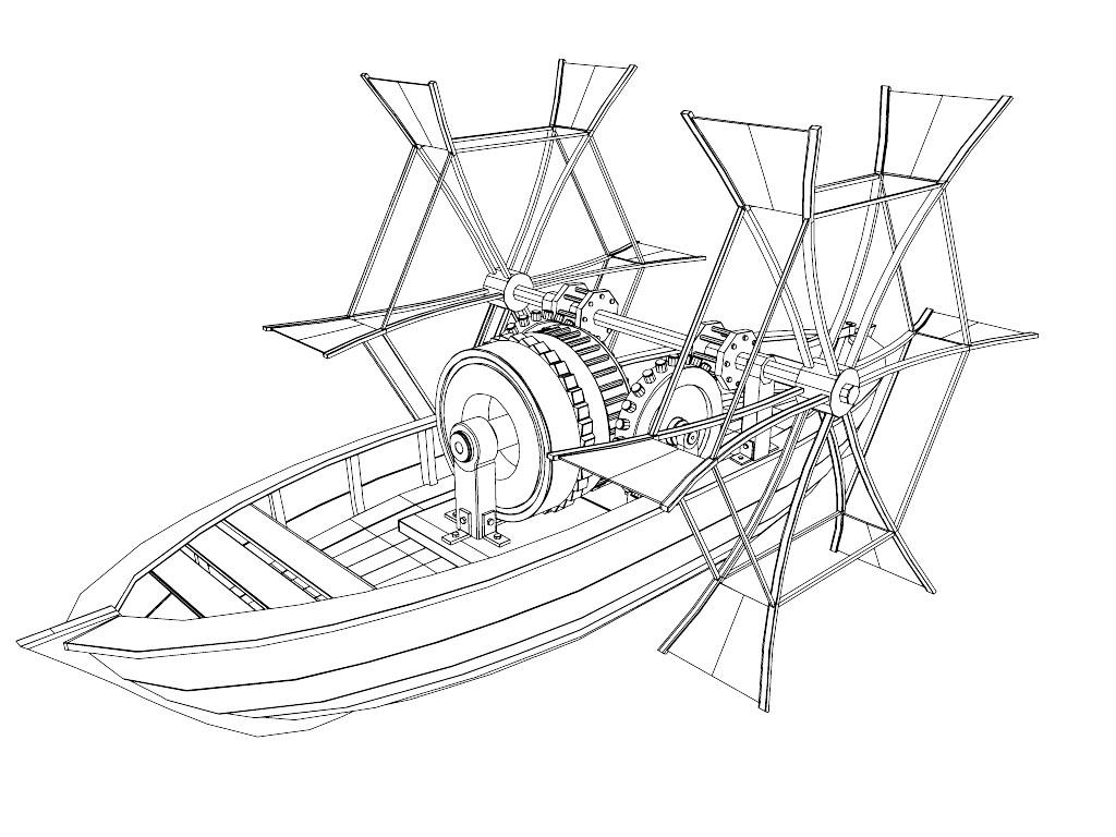 Da Vinci Paddle Boat 3d Model