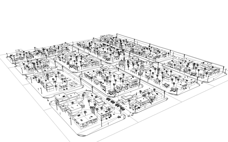 Arab City 1 3d Model