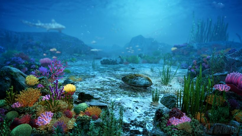 Animated Fish Tank Wallpaper Underwater World Of Coral And Aquatic Plants Animated 3d Model