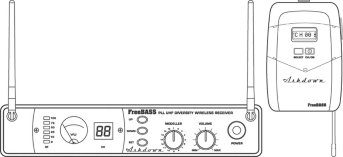 DISCONTINUED Ashdown Freebass Wireless Bass System at