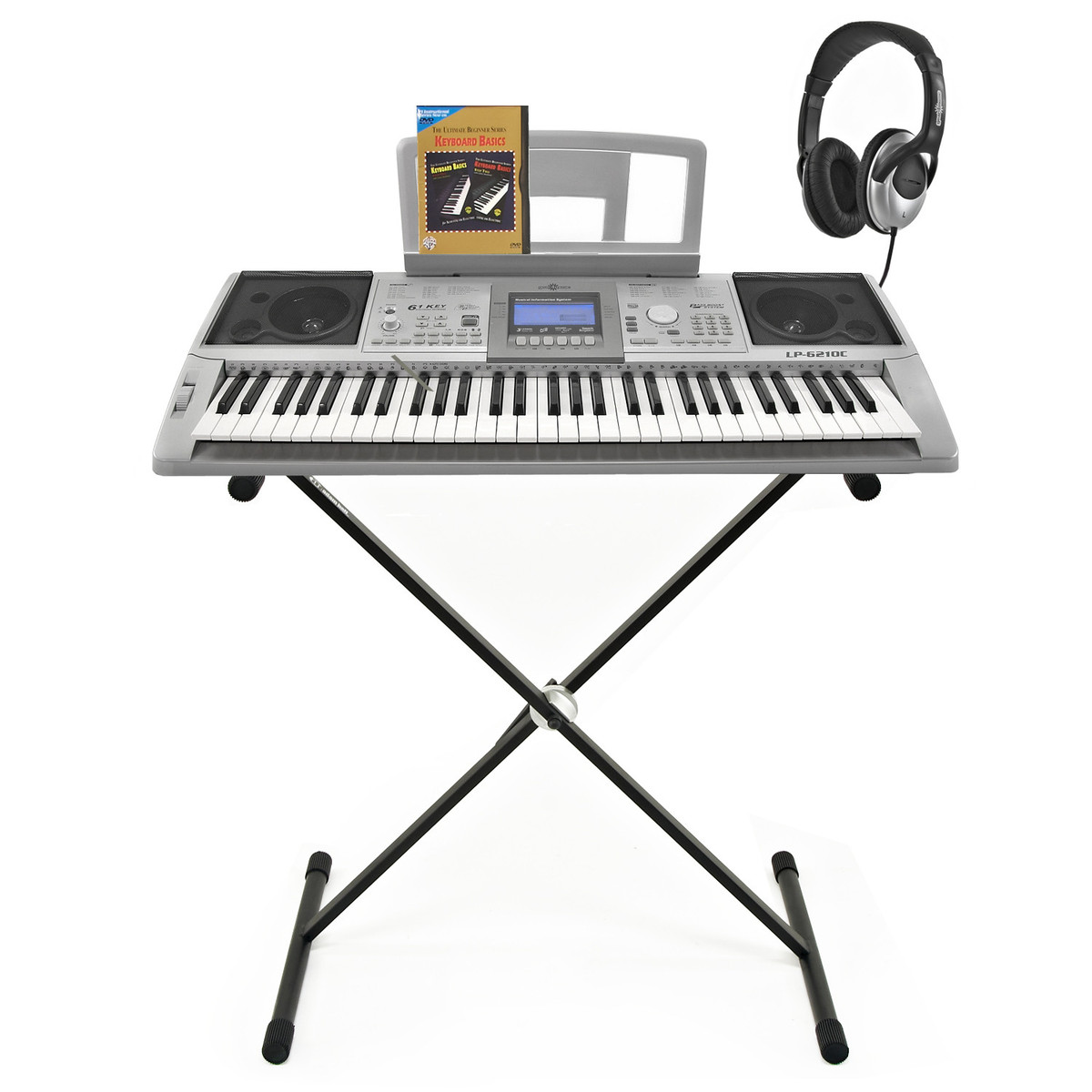 LP-6210C Electronic Keyboard by Gear4music + Accessory