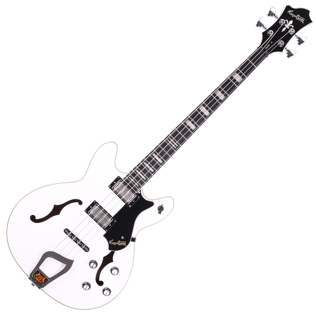 Hagstrom Viking Bass Short Scale Guitar White At Gear4music