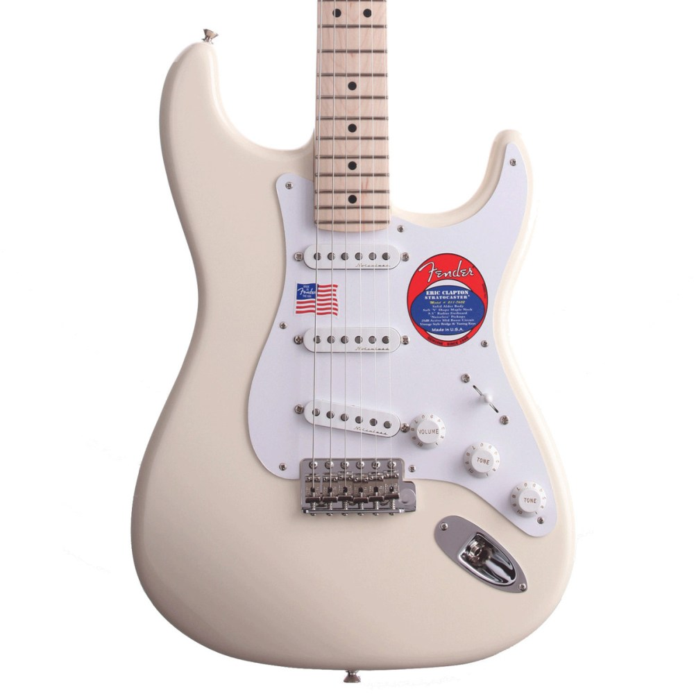medium resolution of fender eric clapton stratocaster electric guitar mn olympic white loading zoom
