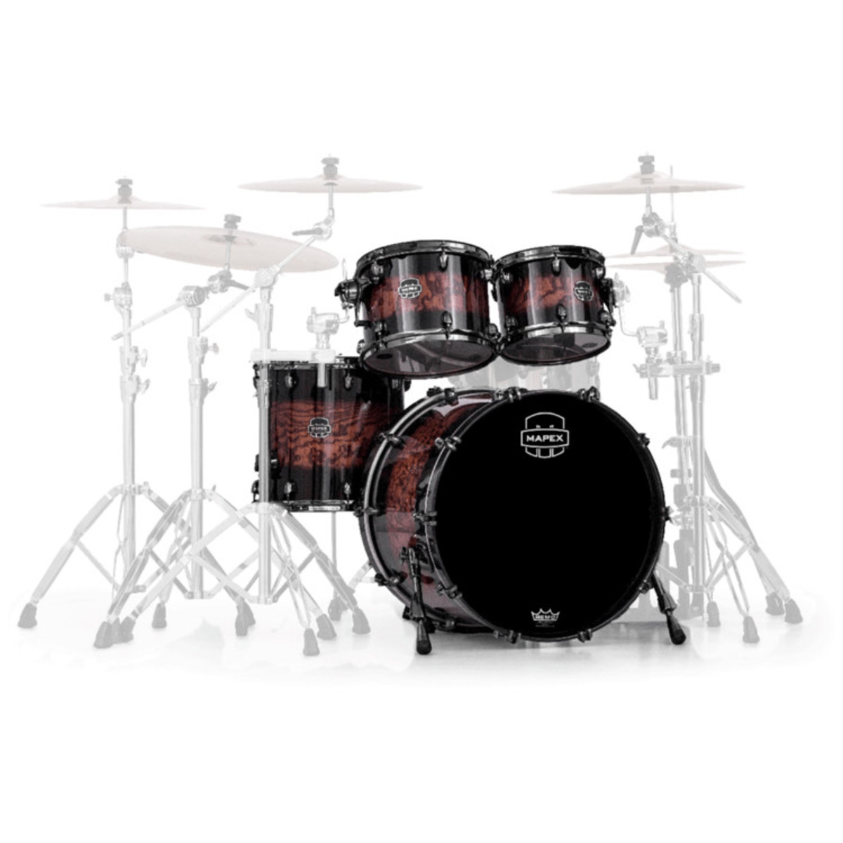 Mapex Saturn IV Exotic Fusion 22 4pc Shell PacTrans Ash