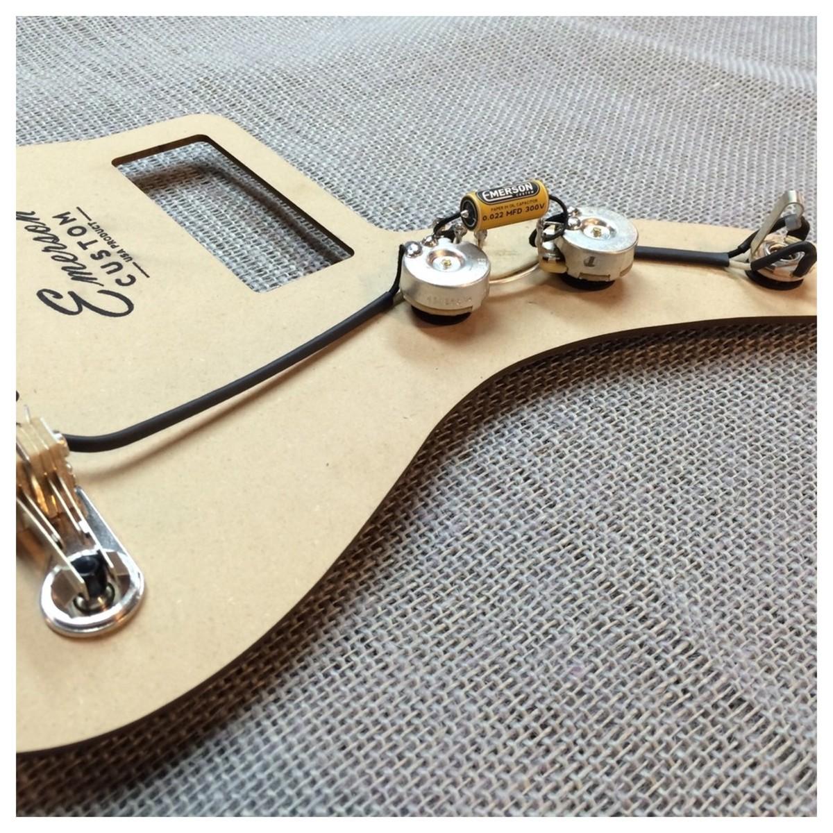 hight resolution of emerson custom jazzmaster prewired kit 1meg