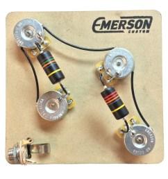 emerson custom 4 knob prs 3 way prewired kit 500k [ 1200 x 1200 Pixel ]