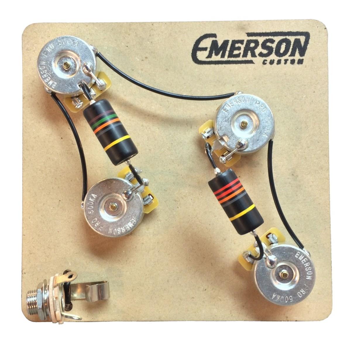 hight resolution of emerson custom 4 knob prs 3 way prewired kit 500k
