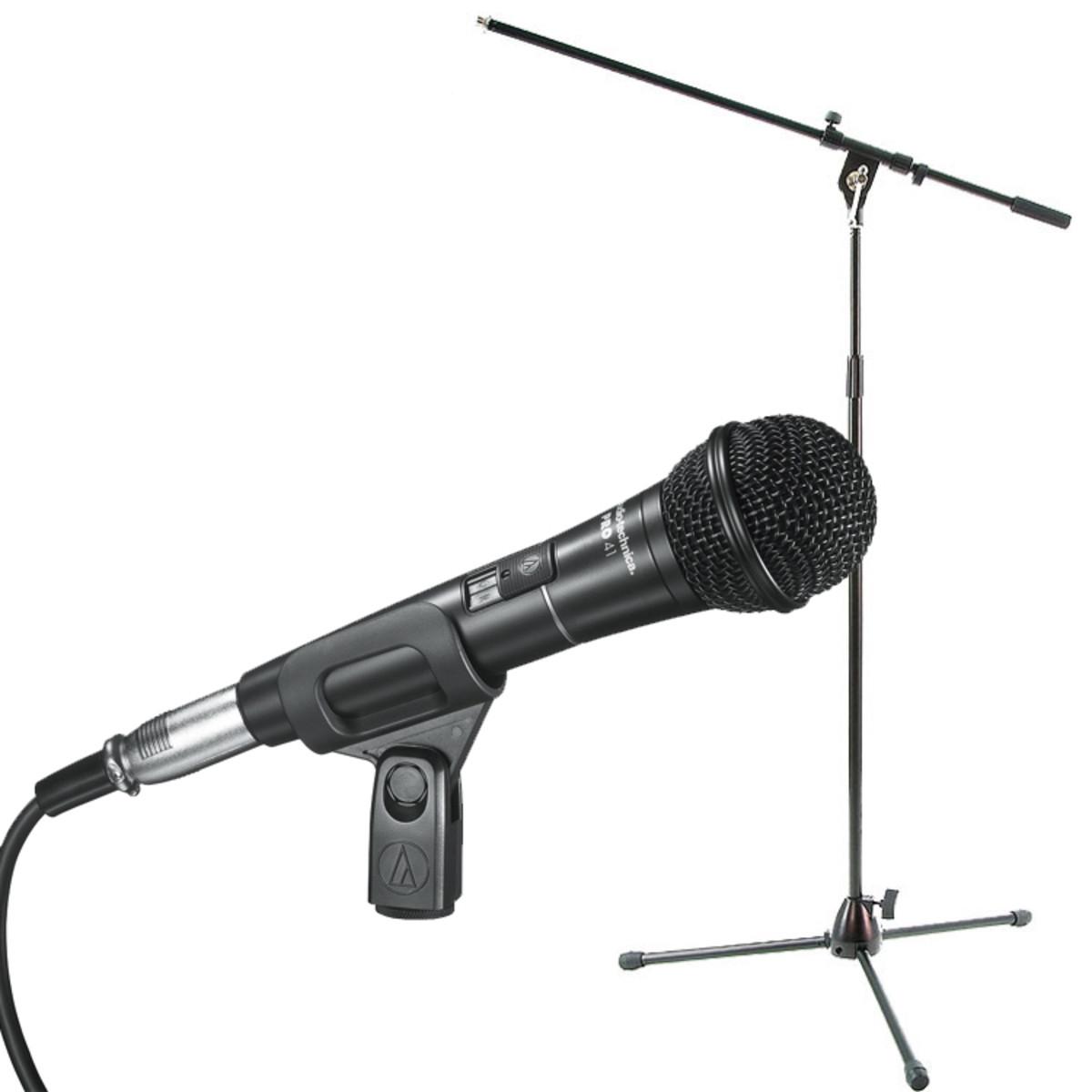 Audio Technica PRO41-mikrofon med Bomstativ och Kabel