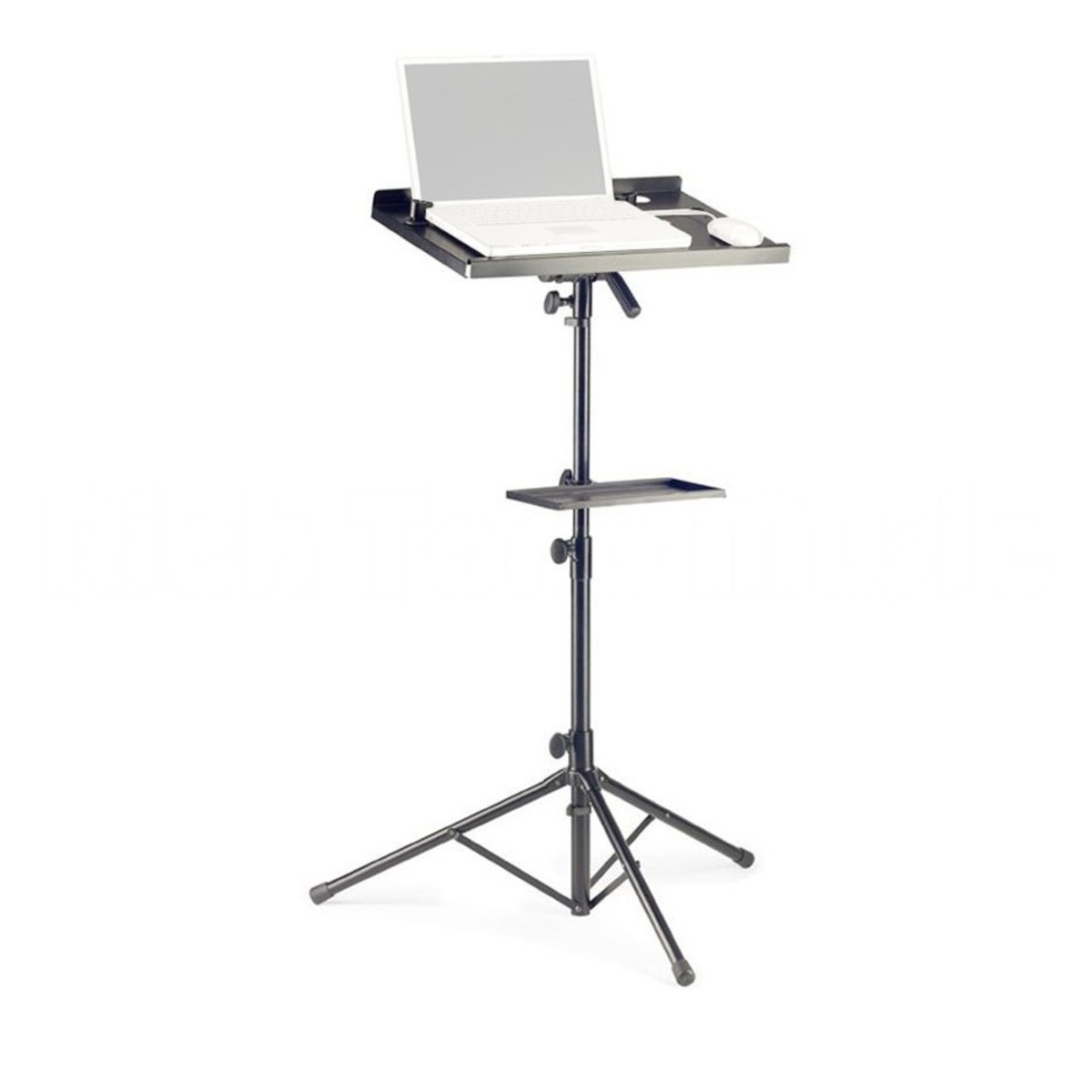 Stagg Cos 10 Laptop Stand Amp Extra Table Black At Gear4music