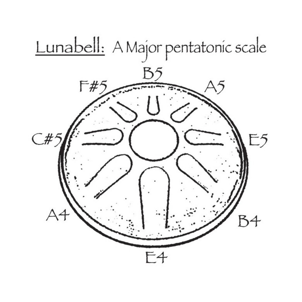 Idiopan Lunabell 8'' Tunable Steel Tongue Drum w/ Pickup