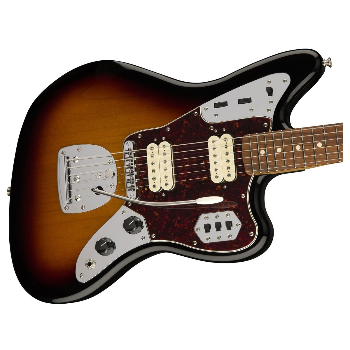 hight resolution of loading zoom fender classic player jaguar special hh pau ferro 3 tone sunburst headstock front