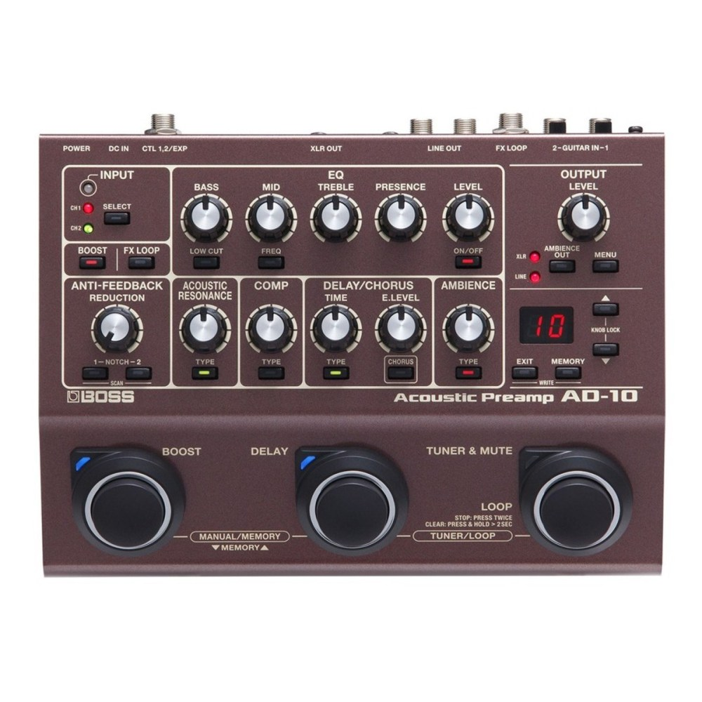 medium resolution of boss ad 10 acoustic preamp