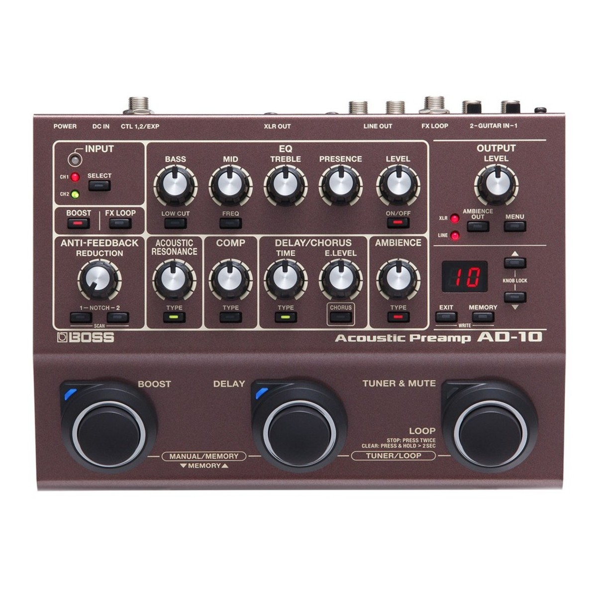 hight resolution of boss ad 10 acoustic preamp