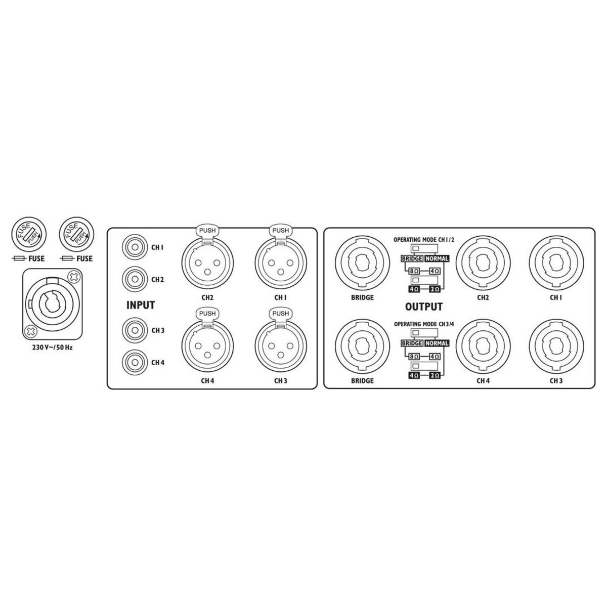 IMG Stageline STA-2000D 2000W Digital Power Amplifier at