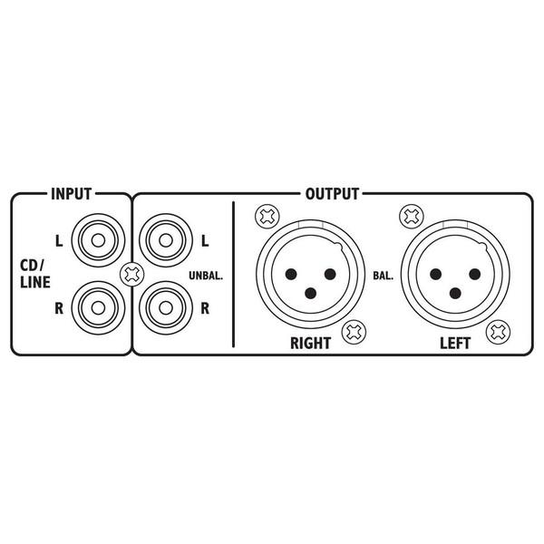 Monacor DMP-130MIX Audio Player & Mic Line Mixer at Gear4music