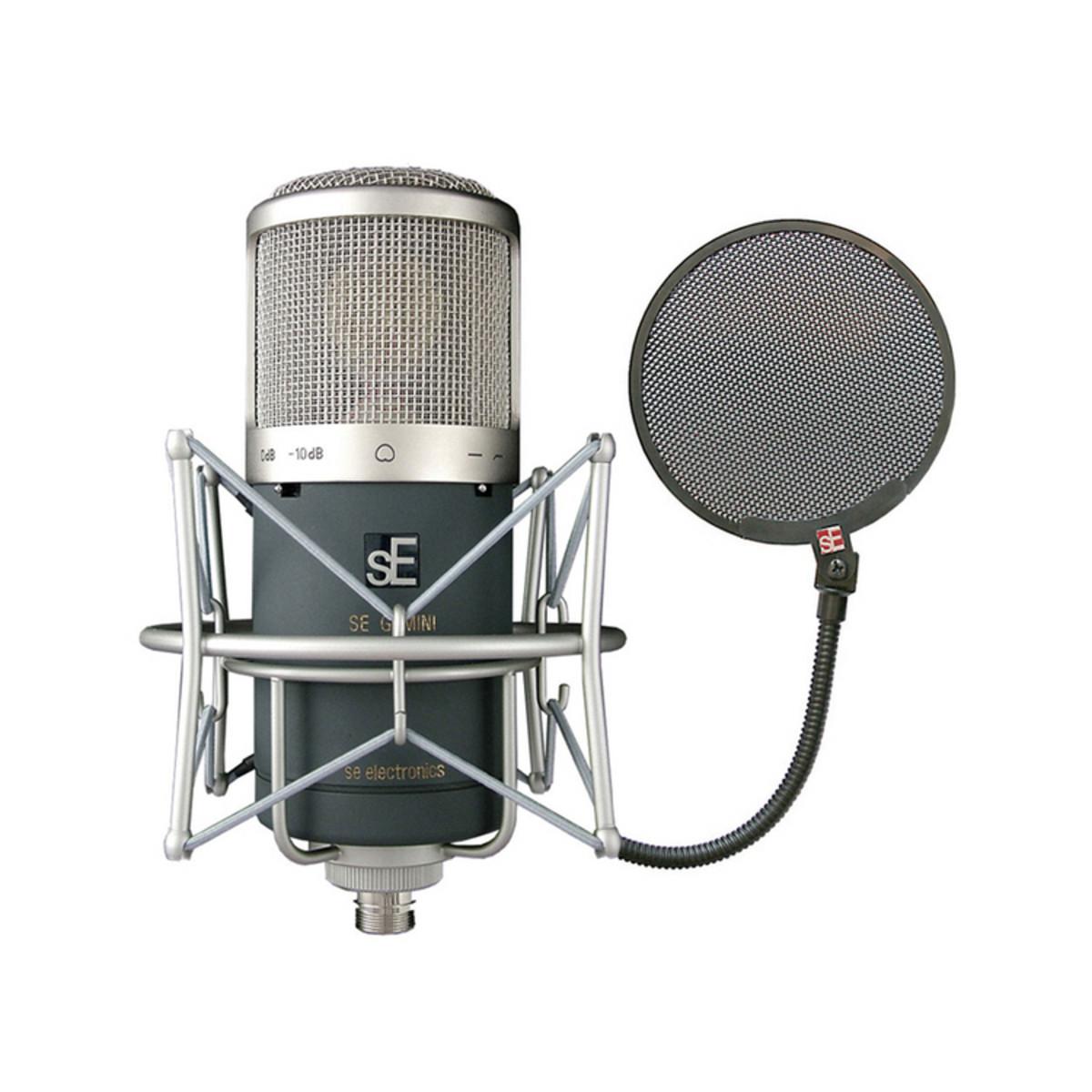 OFFLINEsE Electronics Gemini II Dual Tube Mic +FREE sE Pop Shield at Gear4music