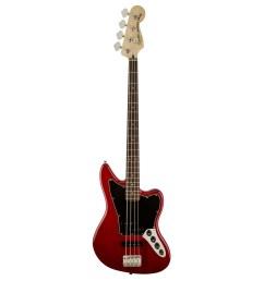 squier vintage modified jaguar bass special crimson red transparent front view  [ 1200 x 1200 Pixel ]
