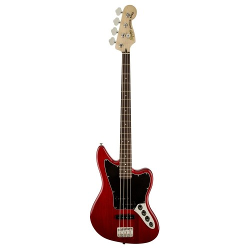 small resolution of  squier vintage modified jaguar bass special crimson red transparent front view