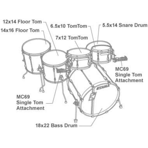 DISC Tama Superstar Hyperdrive Drum Kit, Galaxy Silver