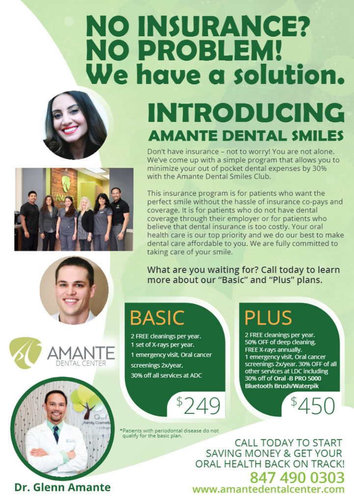 Payment Options Amante Dental Center Dentist In Schaumburg IL
