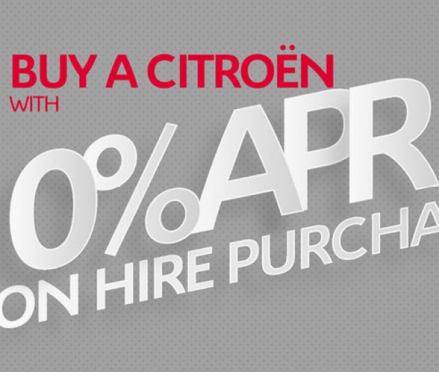 Buy A Citroen With Zero Percent Apr Hire