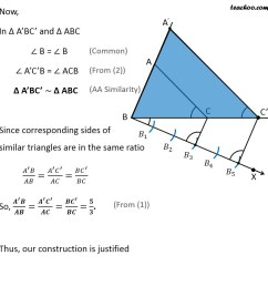 Example 2 - Construct similar triangle. Scale factor 5/3 - Chapter 11 [ 945 x 945 Pixel ]