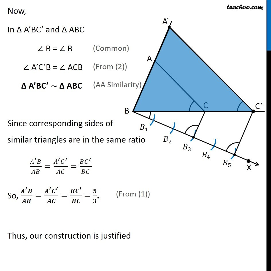 medium resolution of Example 2 - Construct similar triangle. Scale factor 5/3 - Chapter 11