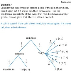 example 7 if coin shows head toss it again but if shows tail  [ 945 x 945 Pixel ]