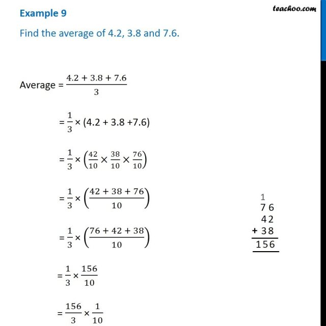 Example 28288288 - Find the average of 28288288.28288, 28288.288 and 288.288 - Chapter 28288 Class 288
