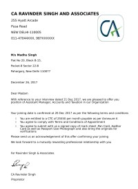 Offer Letters & Appointment Letter - Job and Business ...