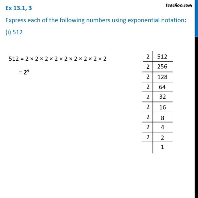 Ex 26.26, 26 - Express using exponential notation: (i) 5262 (ii) 26426