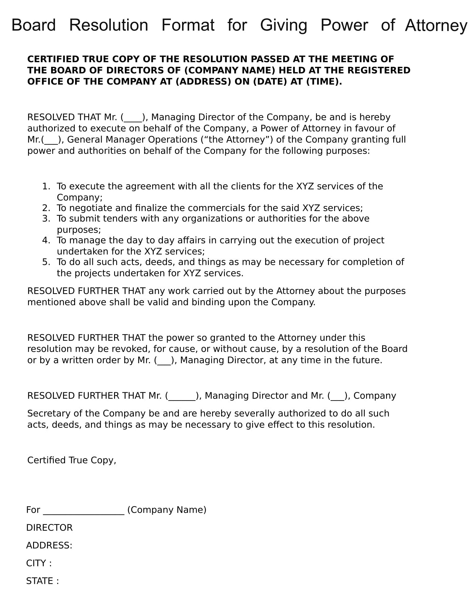 Consent Letter Format For Company Secretary Director