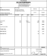 Download Excel Format of Tax Invoice in GST
