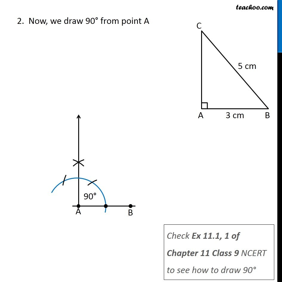 medium resolution of Constructing a right triangle when one side and hypotenuse is given (R